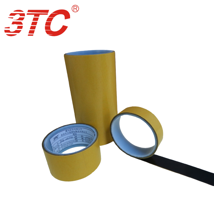 0.125mm Dongguan Jichen cold-resistant Black translucent PET double tape Industrial tape