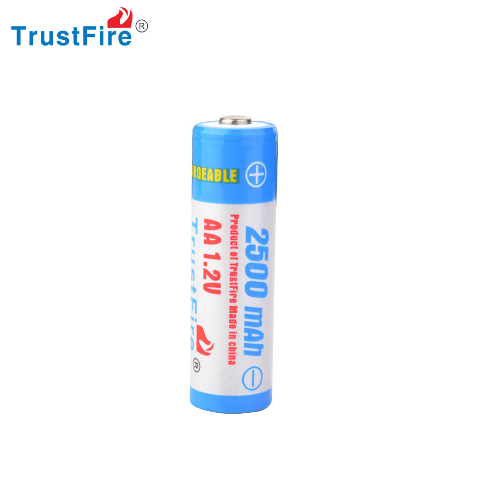 TrustFire Ni-MH 2500mAh 1.2V AA nickel-metal hydride batteries with good quality