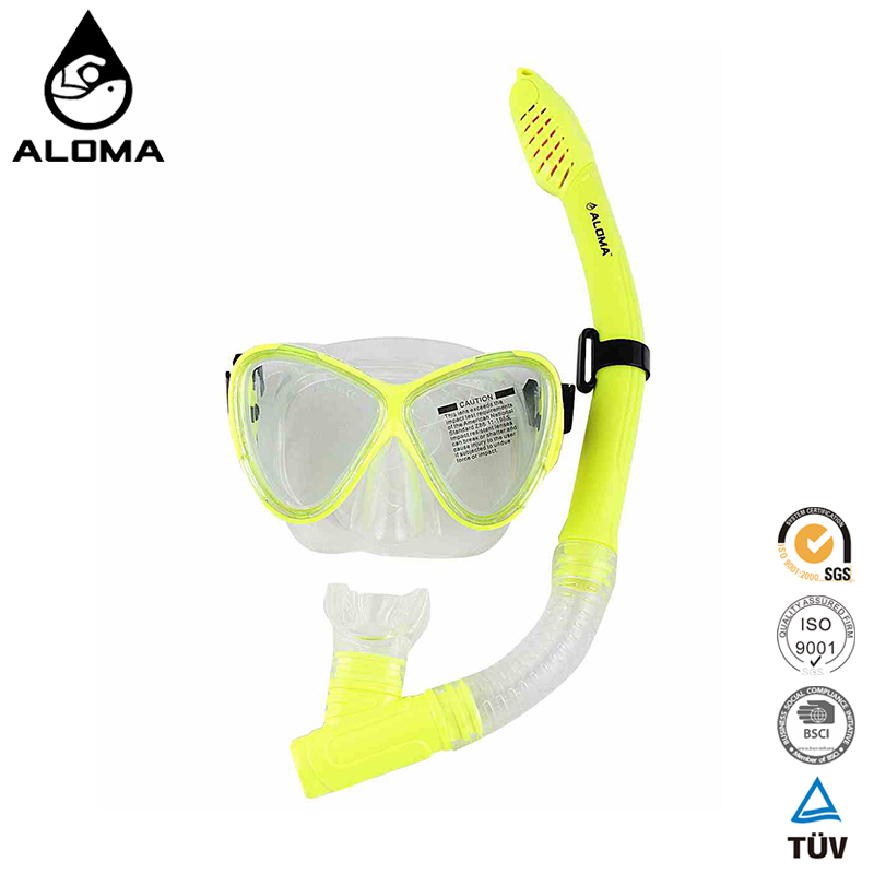 Silicone diver equipment Silicone diving snorkel and mask