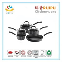 2015 Best selling kitchen carbon steel enamel cookware sets/induction enamel cookware set/pots and pans from zhejiang jinhua