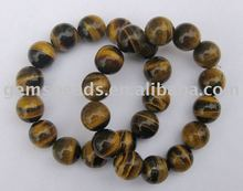 Wholesale gemstone tiger eye round beads bracelet