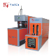 Semi automatic PP PET bottle stretch blowing molding machine with long heater system
