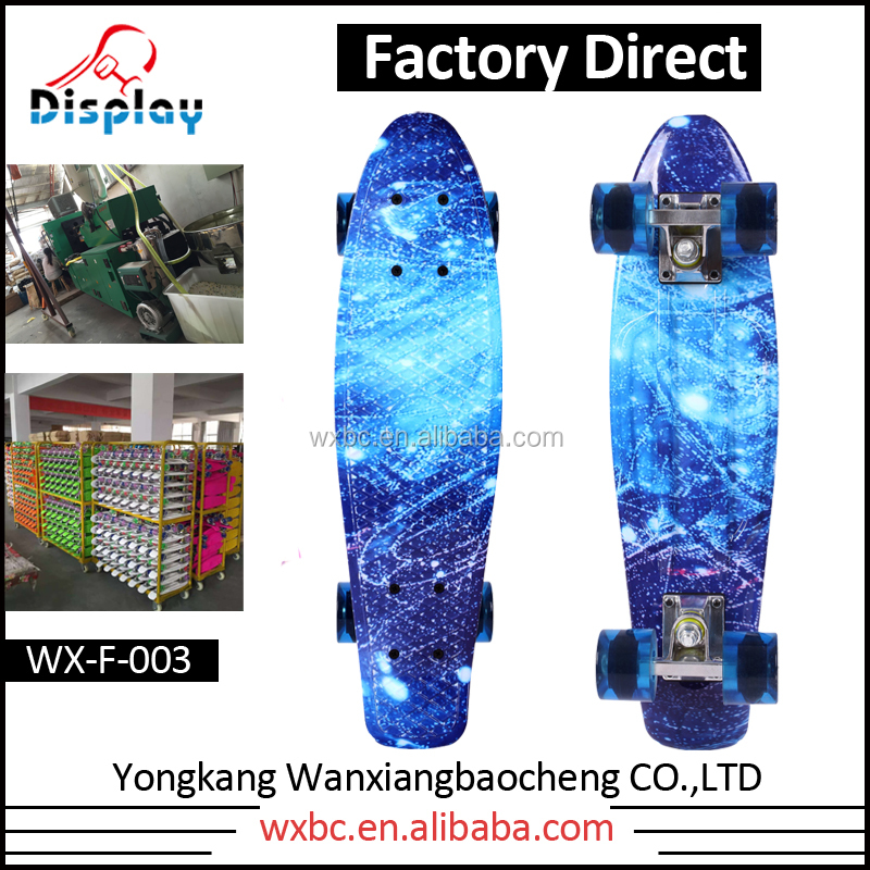 Chinese Factory Wholesale Customized Colorfully watertranfer Skateboard with PU Wheel