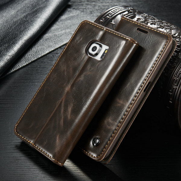 another chance f6b45 5d62f New arrival CaseMe Phone Case For Samsung Galaxy S6 edge Luxury Wallet  Leather Case For Galaxy S6 edge with Fast Shipping