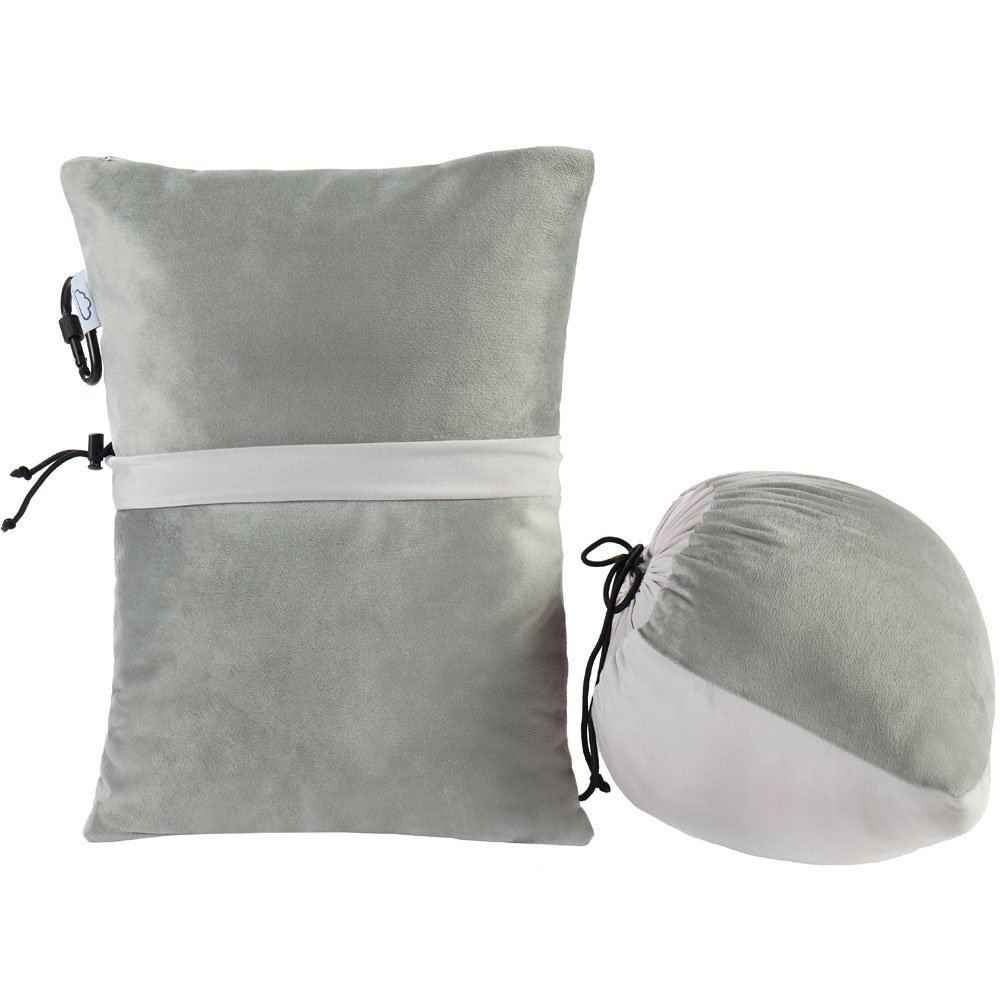 Modvel Compact Travel Outdoor Pillow - Compressible Shredded Memory Foam for Comfort and Neck Support - Great for Adults, Kids, Camping, Air Travel, Road Trips, and More! Take Anywhere!