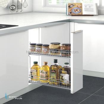 Kitchen Cabinet Base Unit Pull Out Spice Basket