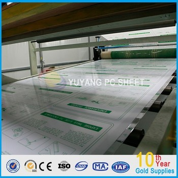 Clear Makrolon Ge Bayer Polycarbonate Solid Sheet