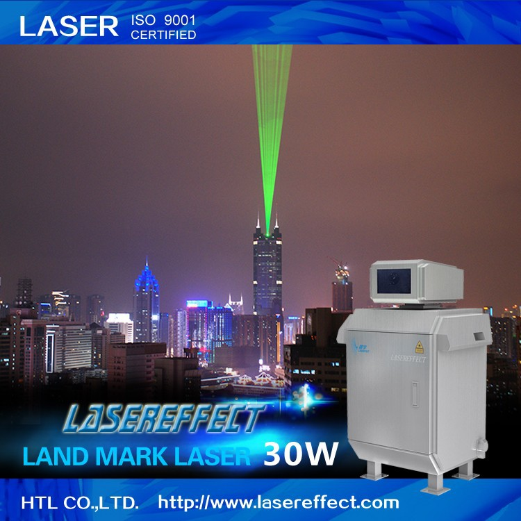 30W green land mark laser light for outdoor advertising and lighting projects