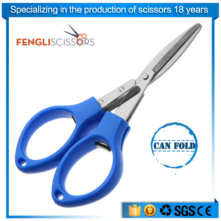 Good quality blue plastic handle cross-stitch line cutting scissors