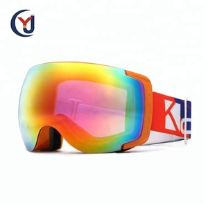 China manufacturer newest style multicolor coating PC lens custom ski snowboard goggles