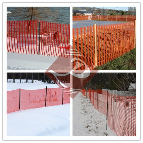 hot sale orange safety fencing in factory
