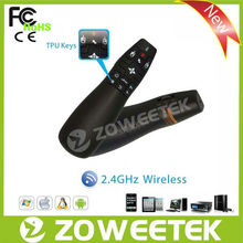 wireless presenter USB free laser pointer with 6-axis fly mouse easy to use