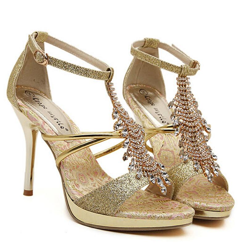 df30e80a8ebc2 Get Quotations · High Heel Sandals Women Shoes High Heel Sandals Silver  Leather Sandalen Shoes Woman Sandalias Etnicas