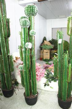 Home Garden Deco Mini Outdoor 50~300cm Tall Green Artificial Cactus Flower  1077 B