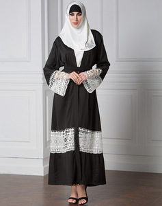 High quality good sale new design of Ladies abaya in stock black muslim dress