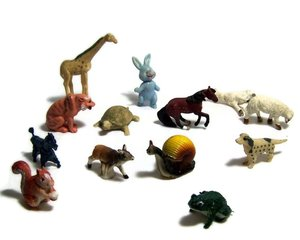 Plastic animal toy figure for display