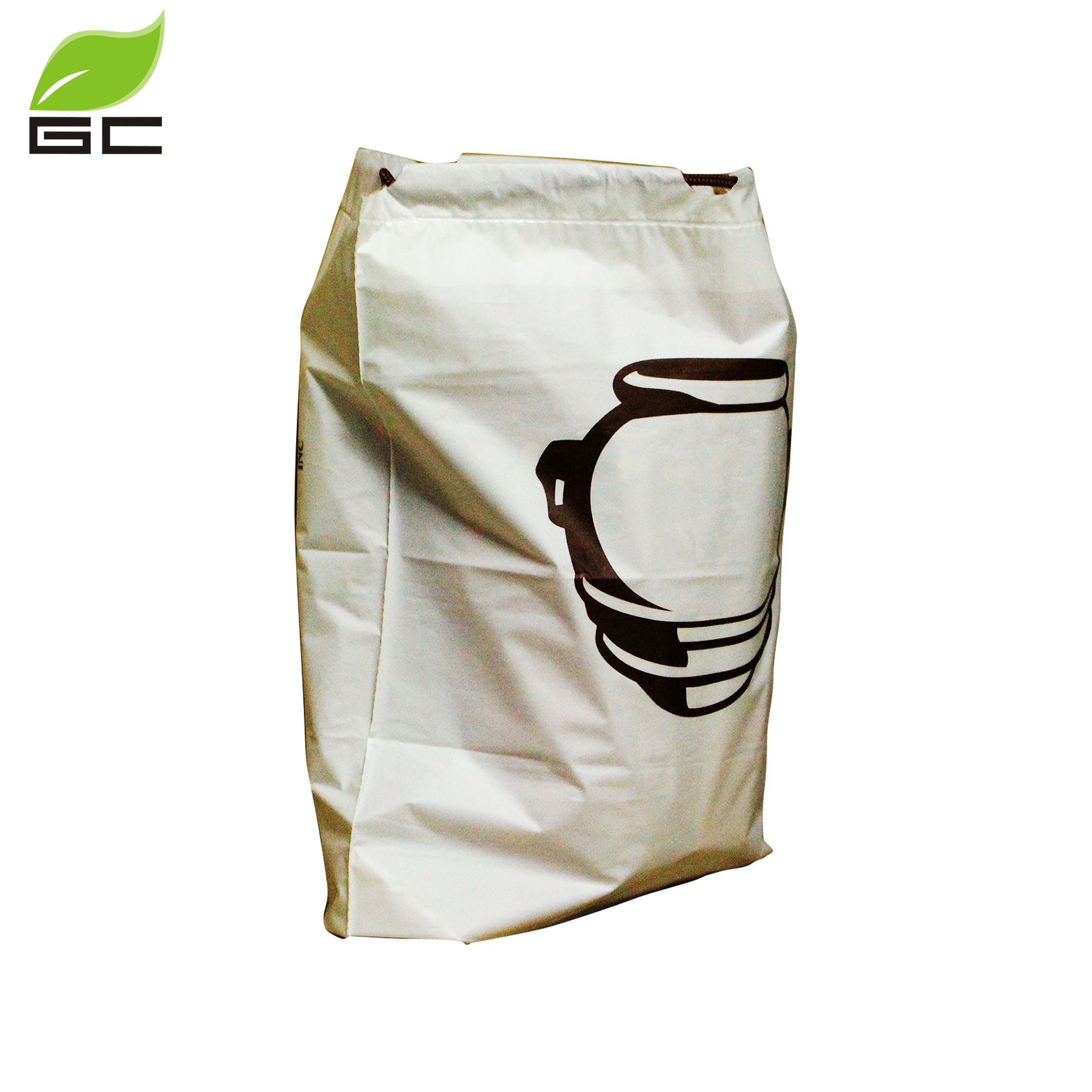 Custom Printed Logo PVA Water Soluble Drawstring Plastic Laundry Bag For Hotel