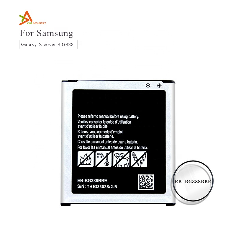 Cellphone Battery for Samsung Galaxy Xcover 3 G388 G388F G389F EB-BG388BBE Top Quality Wholesale Factory Supply