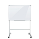 Adjustable glass whiteboard with holder stand mobile glass whiteboard magnetic writing board