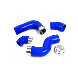 High quality Silicone Turbo boost Intercooler Hose Kit For TT A3 TFSI TDI (4pcs) with end fittings