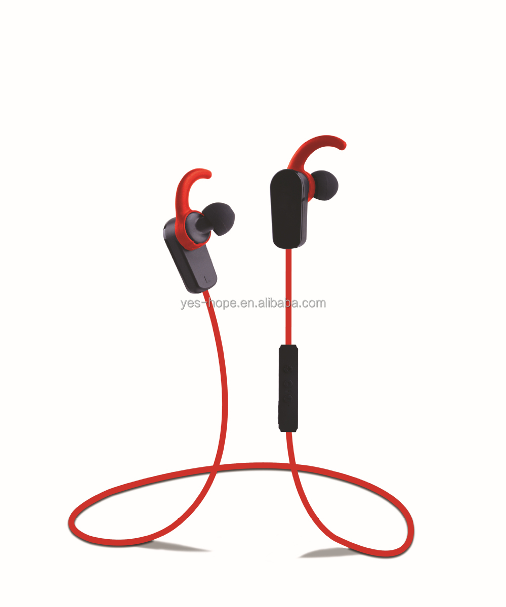 2015 Yes-Hope Ear Hook Bluetooth 4.0 sport headset sweat proof earbud noise cancellation stereo headphone for cell phone