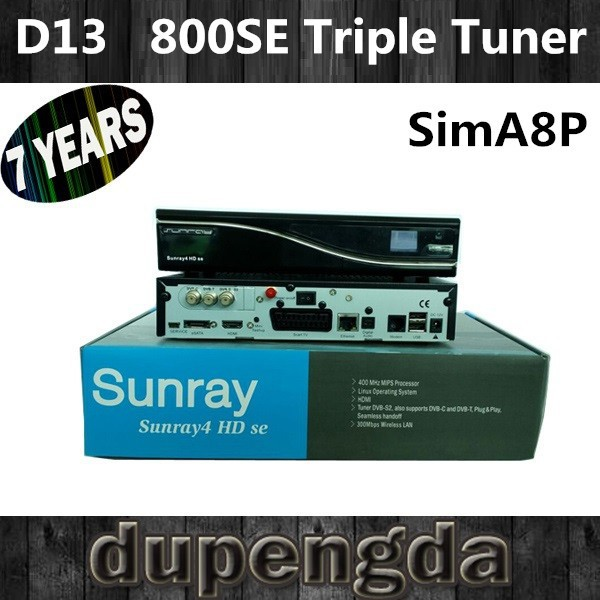 digital satellite reciever 800SE with triple tuner and simA8P