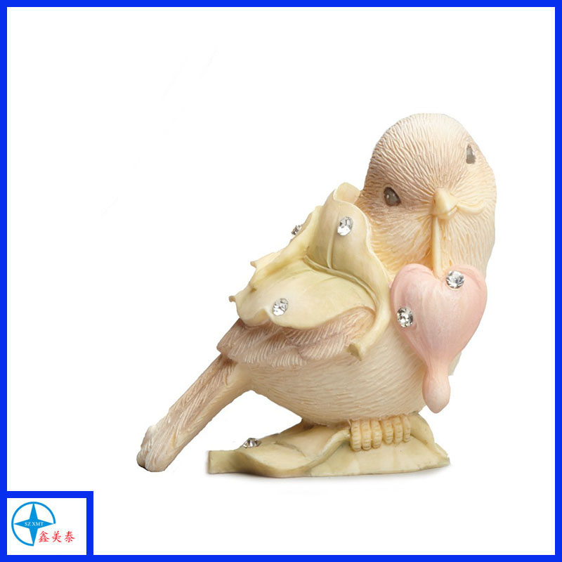 bird with heart figurine,baby family gifts