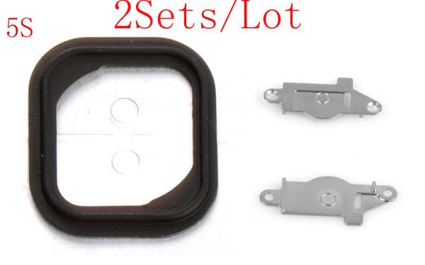 ( 5S51002AM ) ( 2 компл./лот а . м . ) 100% гарантия для iPhone 5S резиновую прокладку клей и металлический кронштейн спейсерной