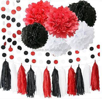Minnie Mouse Rifornimenti Del Partito Kit Bianco Nero Rosso Bambino