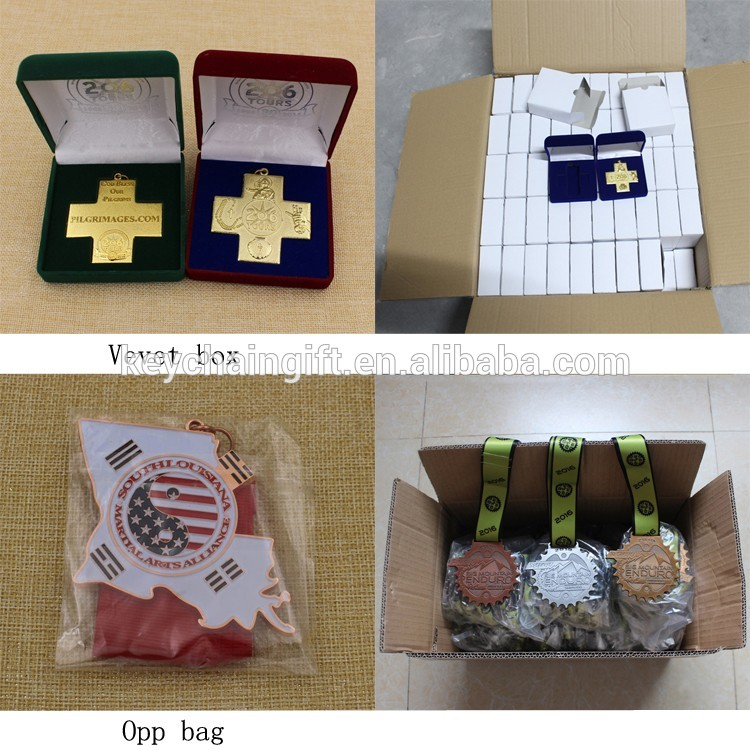 Promotion cheap gold metal WGC  award medals/custom medallion wholesale