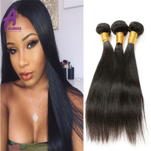 Good weave brazilian virgin hair company 3 bundles straight hair deals with frontal closure