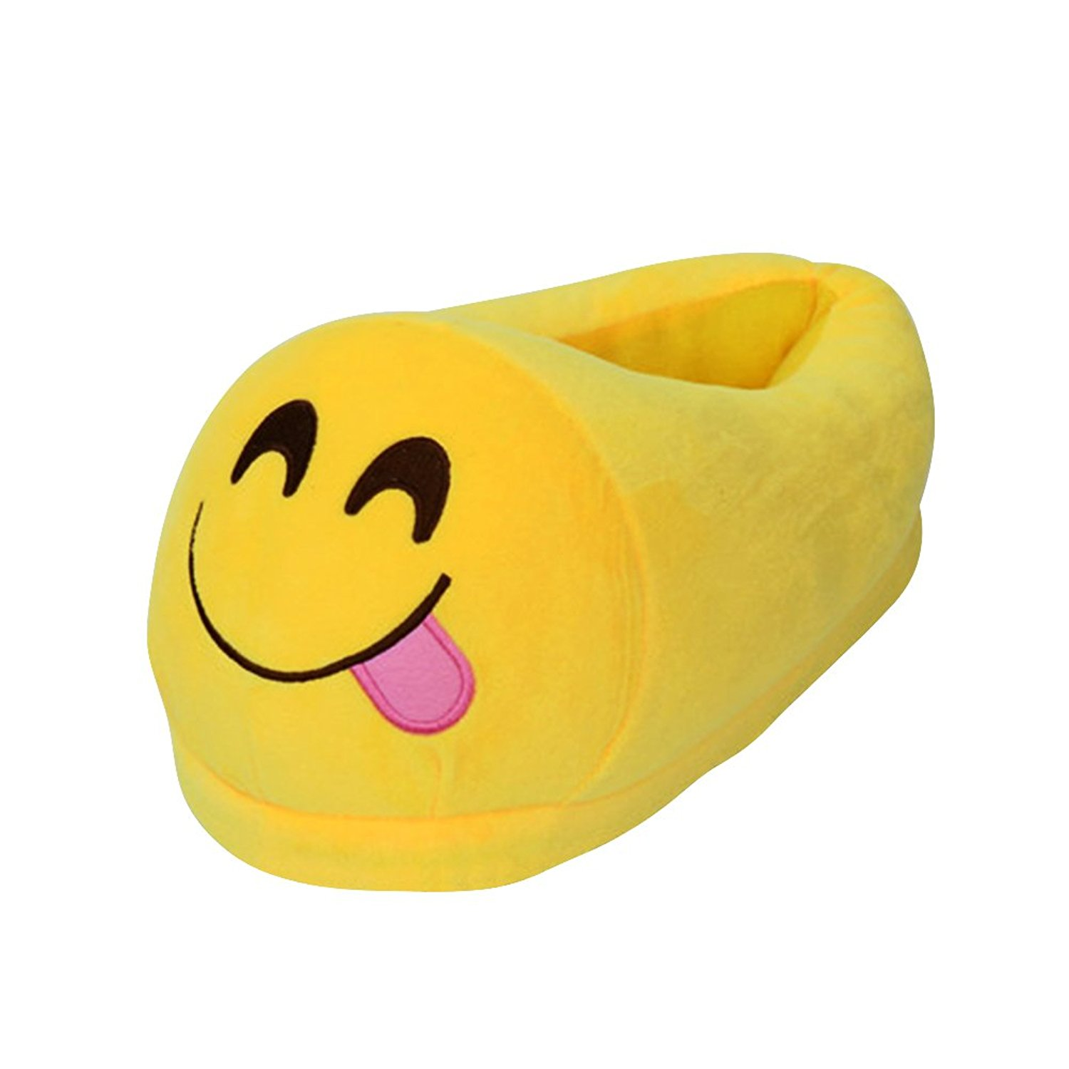 b8b908c4f Get Quotations · OULII Cotton Winter House Slippers Funny Plush Slippers  Non Slip Cute Indoor Slippers (Fun Smiley