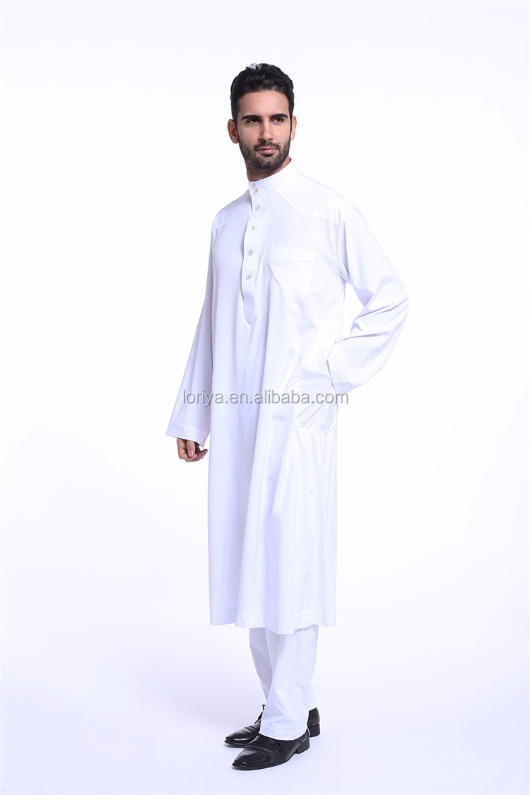 Newest Dubai Men Thobe Islamic Saudi Men Thobe cardigan Kaftan Wholesale