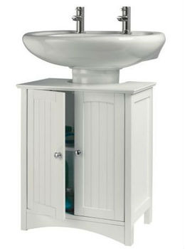 Under Sink Storage Bathroom Wall Cabinet Unit White