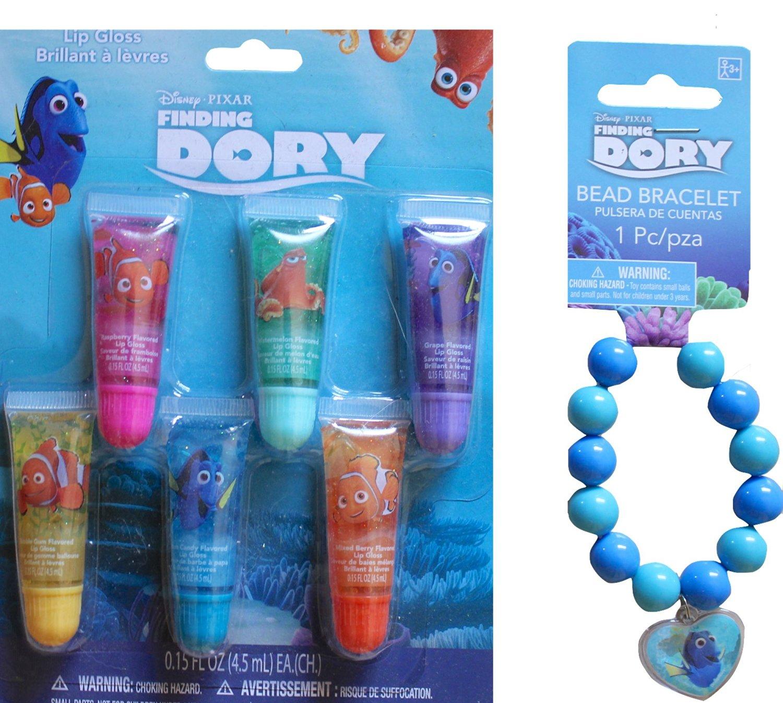 Disney Finding Dory Children's Lip Gloss Gift Set With Finding Dory Bead Bracelet