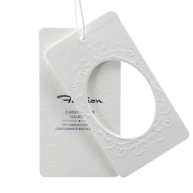 Eco Friendly Die Cut Recycled Craft Paper Hang Tag, Pantone color