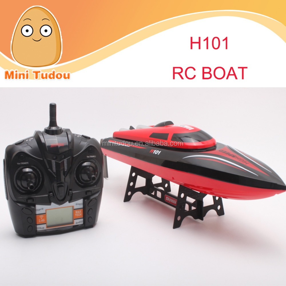 radio control battery powered H101 rc boat VS FT007 RC 2.4g boats & ships for sale