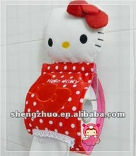 2012 fashion cute animal kitty plush and stuffed tissue holder,lovely and creative