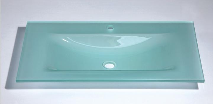 mayordomo lavabo de cristal templado encimera