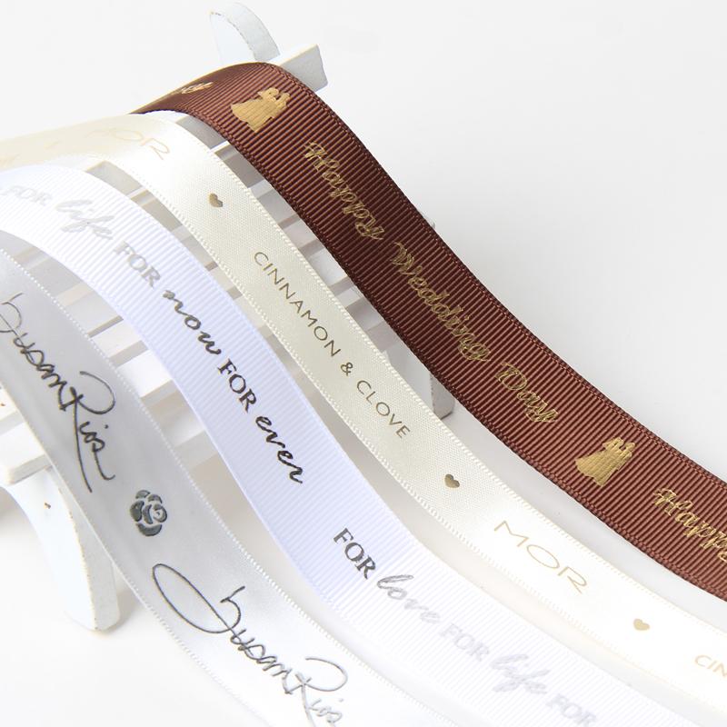 Wholesale Personalized Custom Pattern Brand Name Logo Satin Grosgrain Printed Ribbon фото