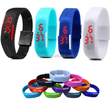 New Products Colorful Sports Simple Touch Led Watch Silicone