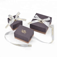 Professional Logo Printed Wholesale Cardboard Ring Gift Boxes With Ribbon
