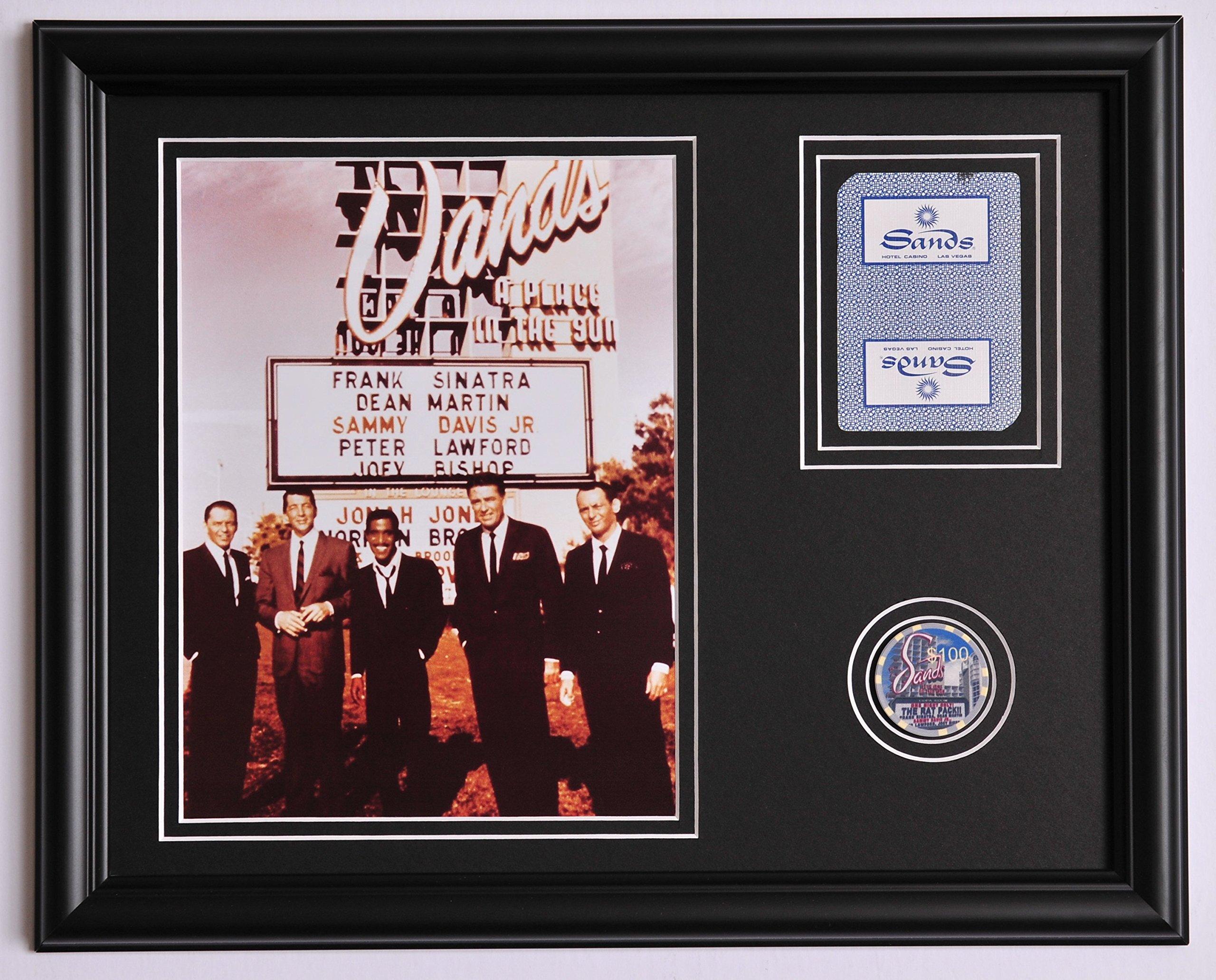 Buy The Rat Pack Sands Framed 8x10 Photo Poster Frank Sinatra Dean