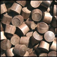 "WIDGETCO 5/16"" Walnut Wood Plugs, End Grain"
