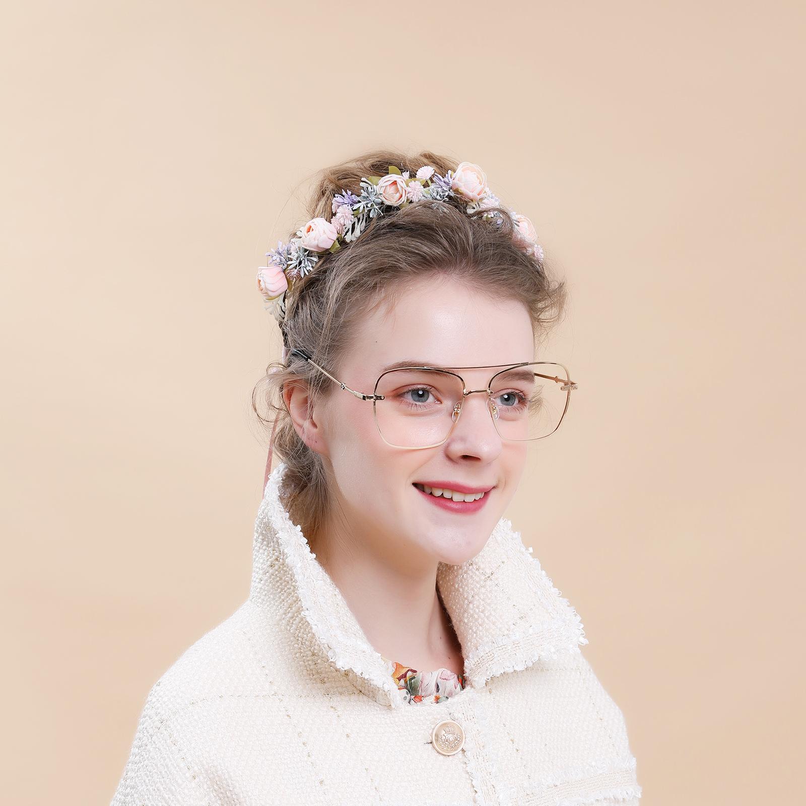 428a6de80 الكورية تصميم لطيف الاصطناعي الزهور عقال اكسسوارات للشعر النساء الفتيات