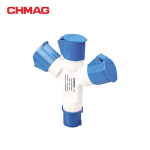 CHMAG High Quality 16A 110V industrial plug and socket 3 way splitter