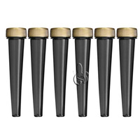 Wholesale Black Screw Top Smoke Joint Conical Tube With Gold Cap, Doob Tubes Short/Long Size Cigarette Storage Cones