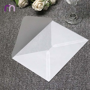 B6 And DL Semi-opaque Transparent Tracing Paper Envelope For Invitation Vip Card