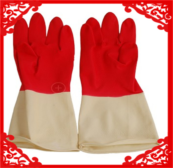 Cheap unlined household Rubber latex gloves