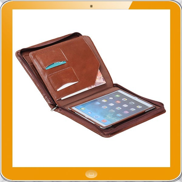 New design A4 leather for ipad portfolio